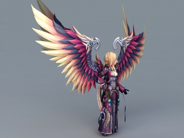 Female Warrior Guardian Angel 3d Model 3ds Max Files Free