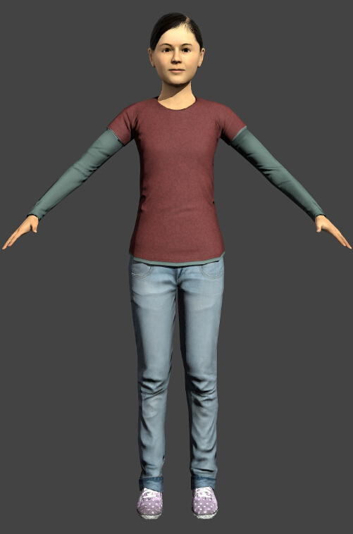 3d Models For Poser And Daz Studio: Asian Teen Girl 3d Model Object Files Free Download