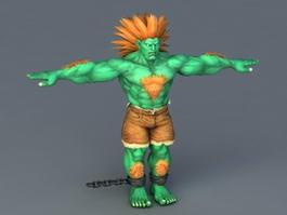 Street Fighter Blanka 3d model