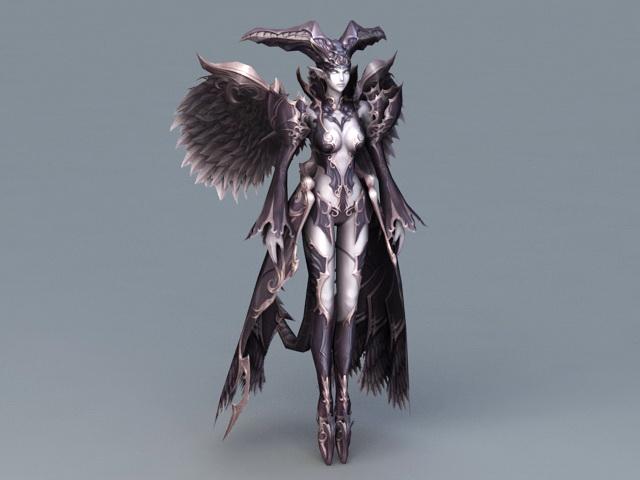 Fallen Angel Devil 3d model