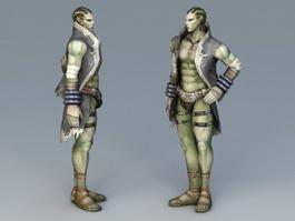 Half-Orc Male 3d model