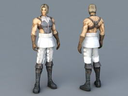 Human Male Fighter 3d model