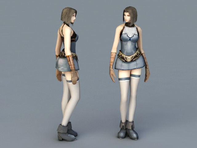 Woman Fighter 3d model