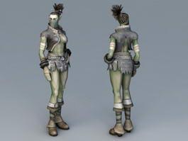 Female Half-Orc 3d model
