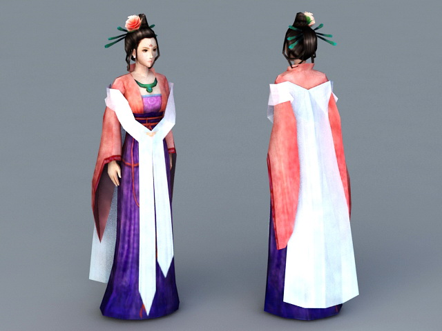 Chinese Noble Lady 3d model