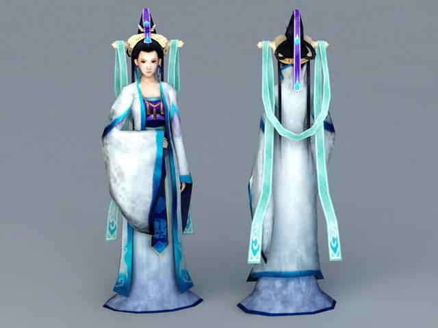 Chinese Myths Goddess 3d model