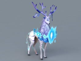 Anime Blue Reindeer 3d model