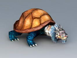 Snake Turtle Monster 3d model