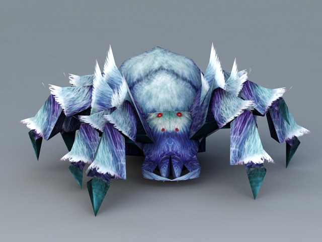 Blue Spider Monster 3d model