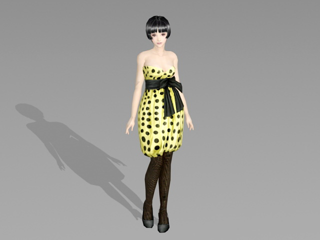 Korean Fashion Women 3d Model 3ds Max Files Free Download