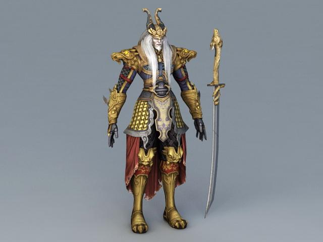 Old Dragon Warrior 3d model