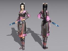 Chinese Female Martial Artist 3d model