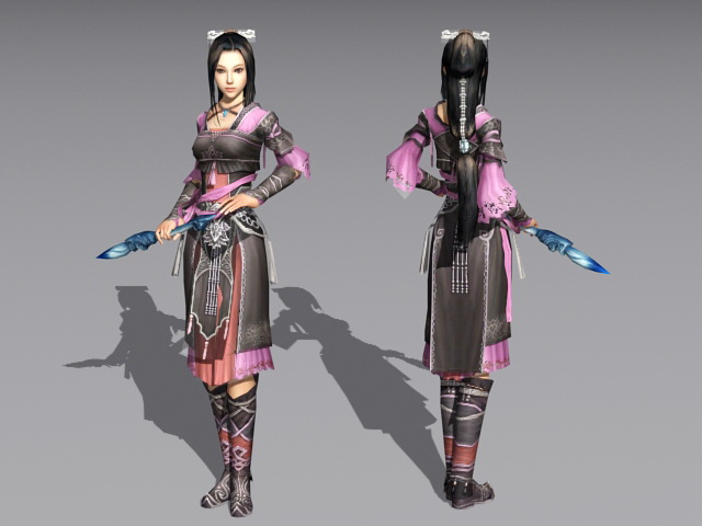 Chinese Female Martial Artist 3d model