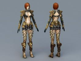 Sexy Mage Concept Art 3d model