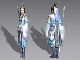 Ancient Chinese Swordswoman 3d model