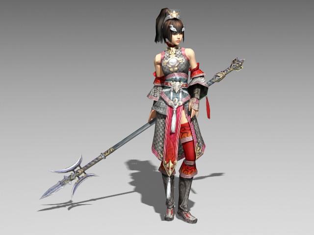 Chinese Female Warrior 3d model