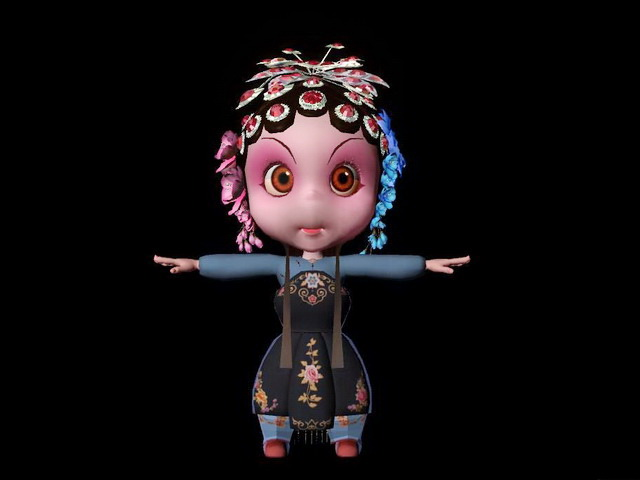Cute Chinese Opera Character 3d model