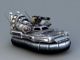 Sci-Fi Hovercraft 3d model