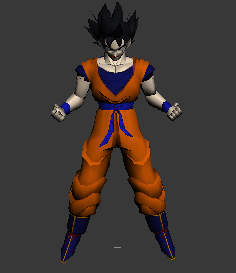 Super Vegeta Dragon Ball Goku Split Animated 3d model