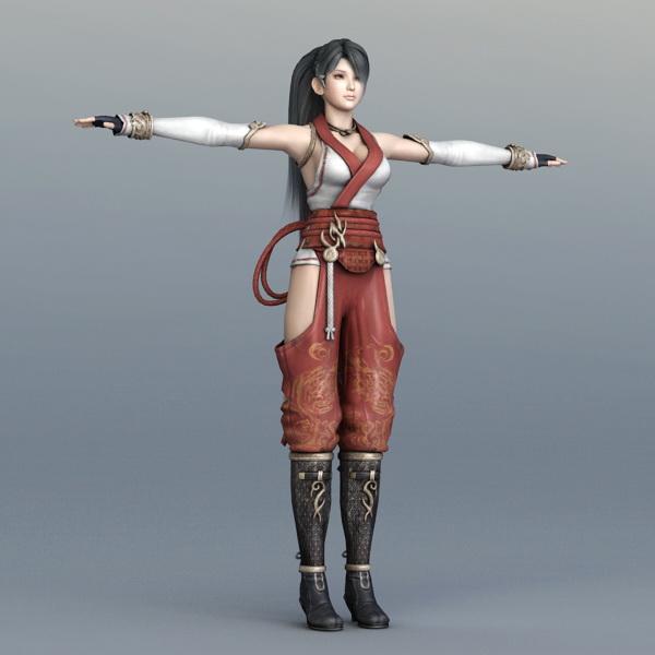 Beautiful Female Warrior Rigged 3d model