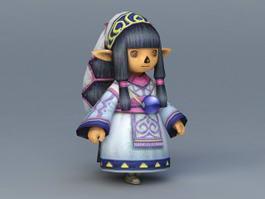 Anime Little Girl 3d model