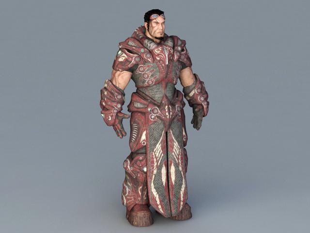 Futuristic Gladiator 3d model