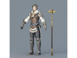 Male Wizard Concept Art 3d model