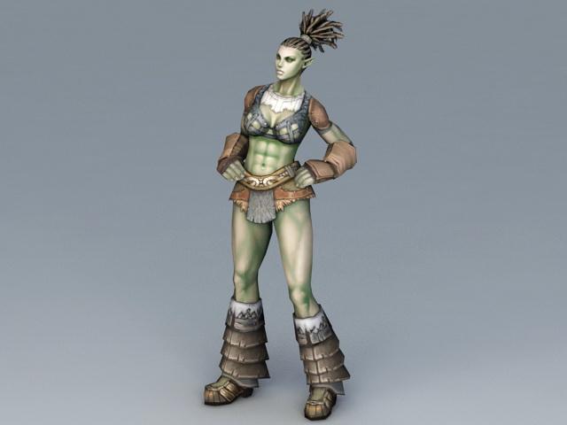 Half-Orc Woman 3d model