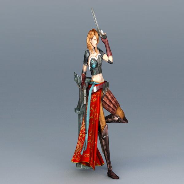 Pathfinder Gunslinger Woman 3d model