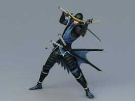 Japanese Samurai Warrior 3d model