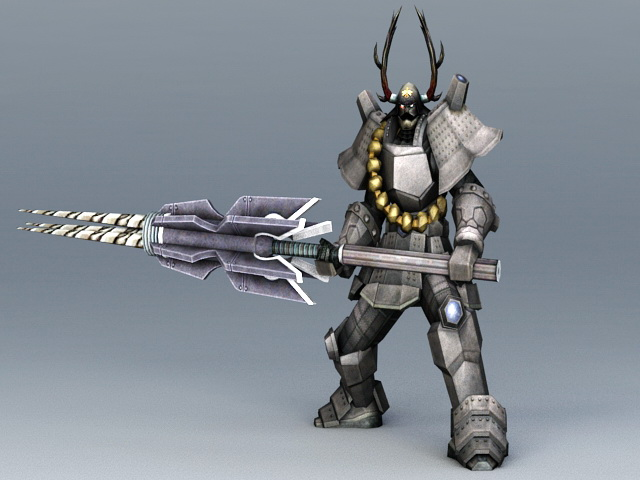Robot Samurai Concept Art 3d model