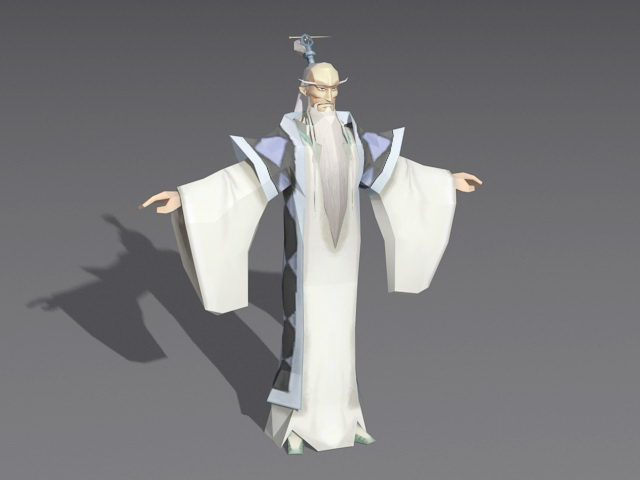 Old Chinese Scholar 3d model