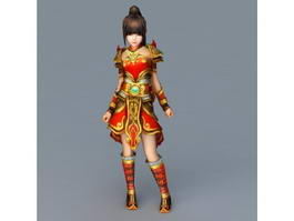 Chinese New Year Child 3d model
