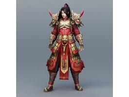 Chinese Warrior Art 3d model