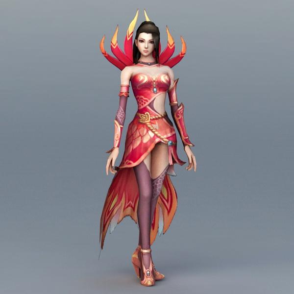 Female Fire Sorceress 3d model