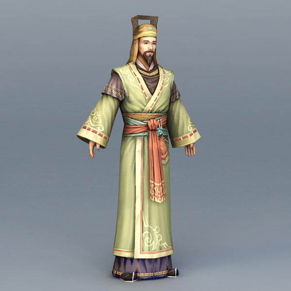 Medieval Businessman 3d model