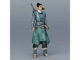 Chinese Swordsman Concept Art 3d model
