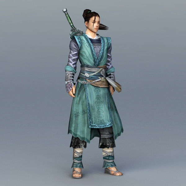 Chinese Swordsman Concept Art 3d Model 3ds Max Object