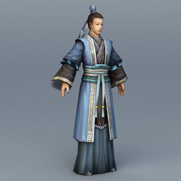 Ancient Chinese Civilian Scholar 3d model