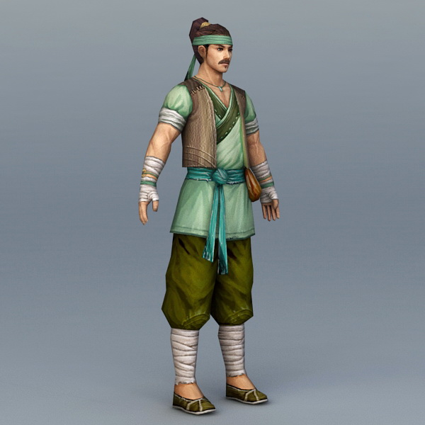 Chinese Peasant Farmer 3d model