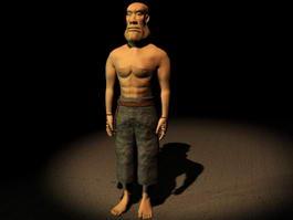 Cartoon Man Standing 3d model