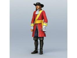 Medieval Pirate Captain 3d model