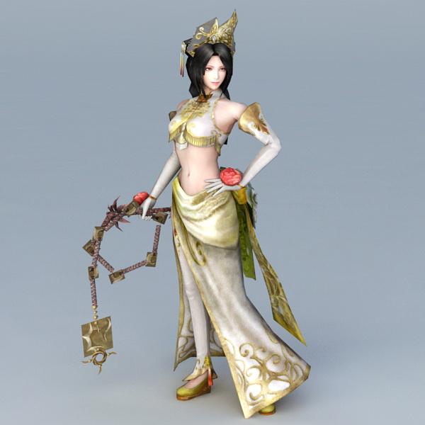 Asian Warrior Woman 3d model