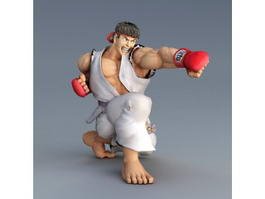 Ryu Street Fighter Character 3d model