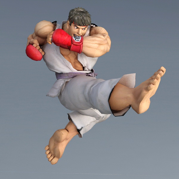 Ryu Street Fighter Character 3d Model 3ds Max Files Free