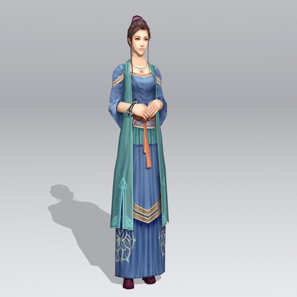 Ancient Chinese Noble Lady 3d model