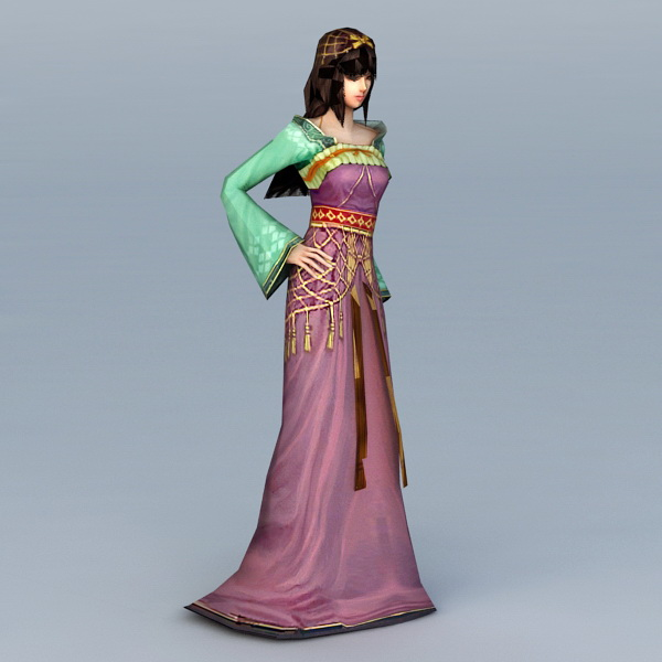 Traditional Chinese Princess 3d model