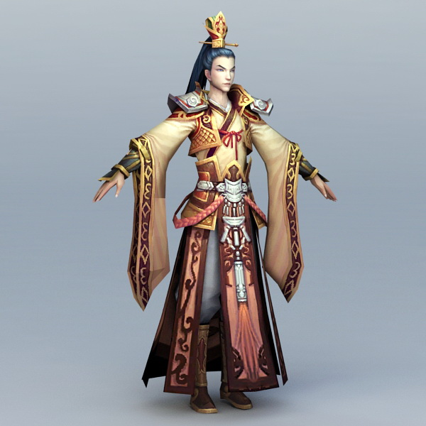 Chinese Imperial Prince 3d model