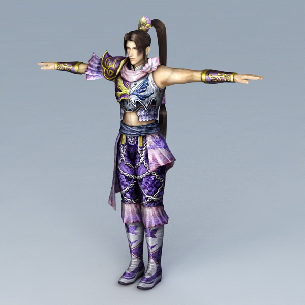 Traditional Korean Woman 3d model 3ds Max files free