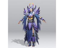 Battle Mage Concept 3d model